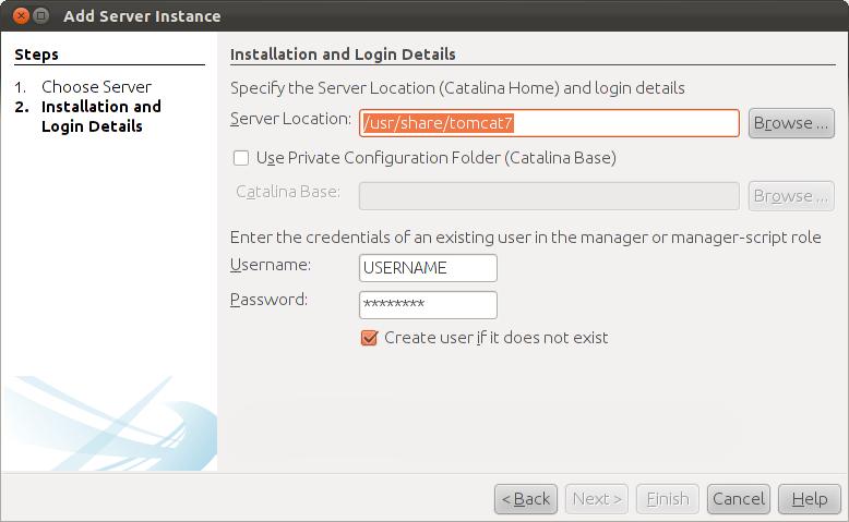 Installing and adding an external Tomcat server in Netbeans